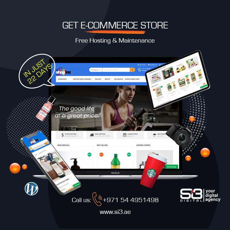 eCommerce website development Dubai   Custom Web Design