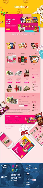 Snackbox - eCommerce Portfolio